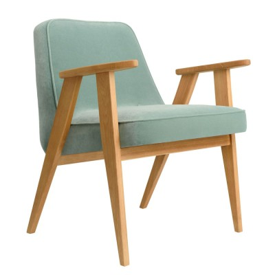 366 Velvet armchair mint
