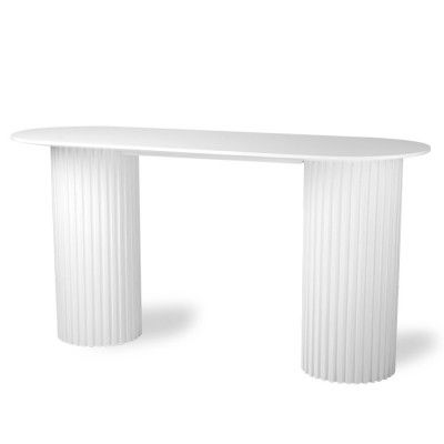 Table d'appoint ovale Pillar blanc HK Living