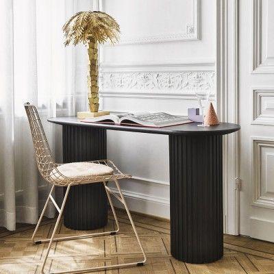 Table d'appoint ovale Pillar noir HK Living