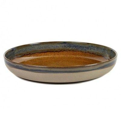 Dish Surface rusty brown Ø32 cm Serax
