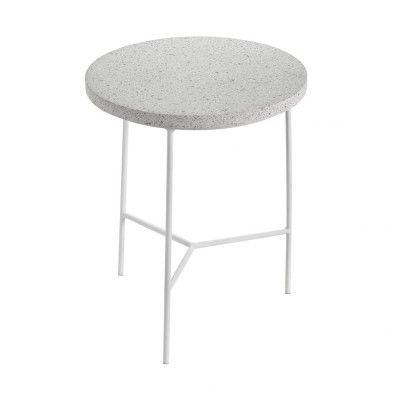 Table d'appoint blanc & terrazzo Ø30 cm Serax