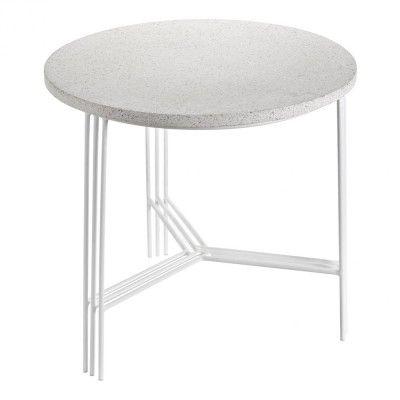 Table d'appoint blanc & terrazzo Ø50 cm Serax