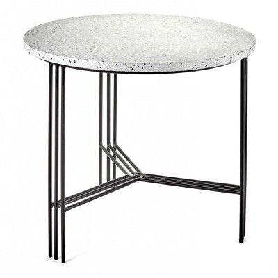 Table d'appoint noir & terrazzo gris Ø50 cm Serax