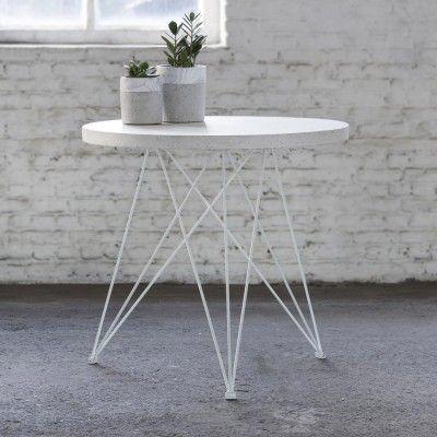 Table à manger Bistrot terrazzo blanc Serax