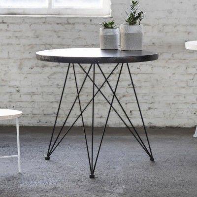Bistrot dining table terrazzo black Serax