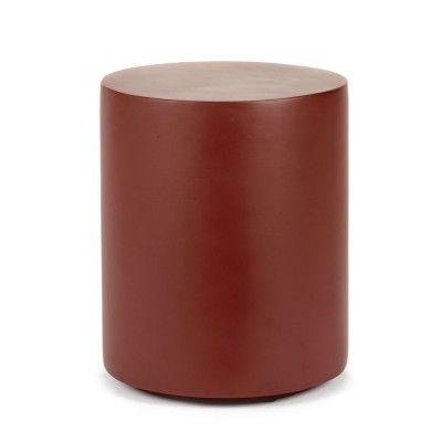 Round Fiber stool Marie red Serax