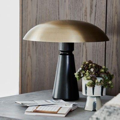 Lampe de table Thane noir & laiton House Doctor