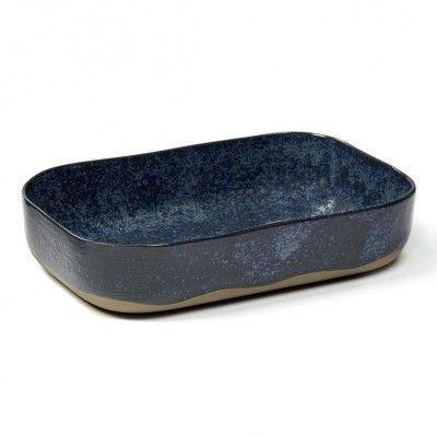 Deep plate Merci n°5 L blue grey Serax