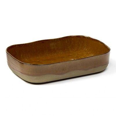Assiette creuse Merci n°5 L ocre brun Serax