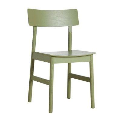 Chaise Pause frêne teinté vert olive 2.0 Woud