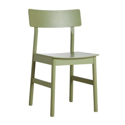Pause dining chair 2.0 olive green painted ash Woud