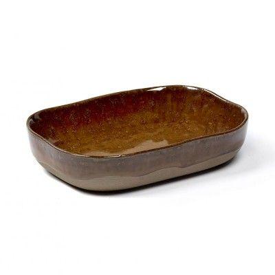 Assiette creuse Merci n°7 M ocre brun Serax