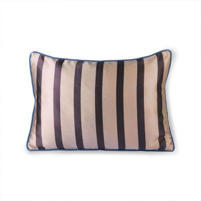 Coussin velours & satin brun/taupe 35 x 50 cm HK Living