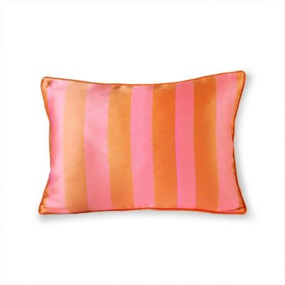 Coussin velours & satin orange/rose 35 x 50 cm HK Living