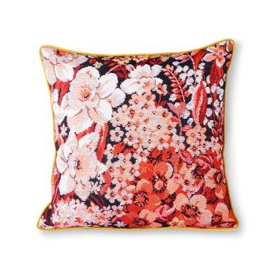 Printed floral cushion coloured HK Living