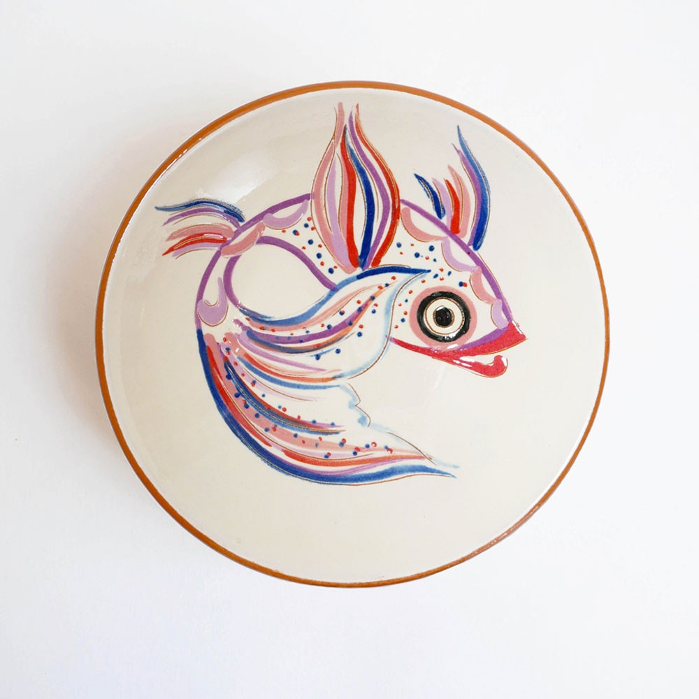 Small dish purple fish