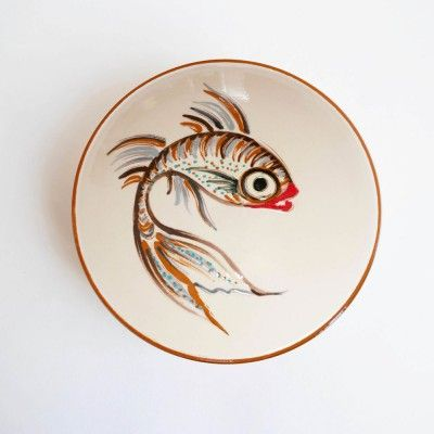 Small dish brown fish Datcha