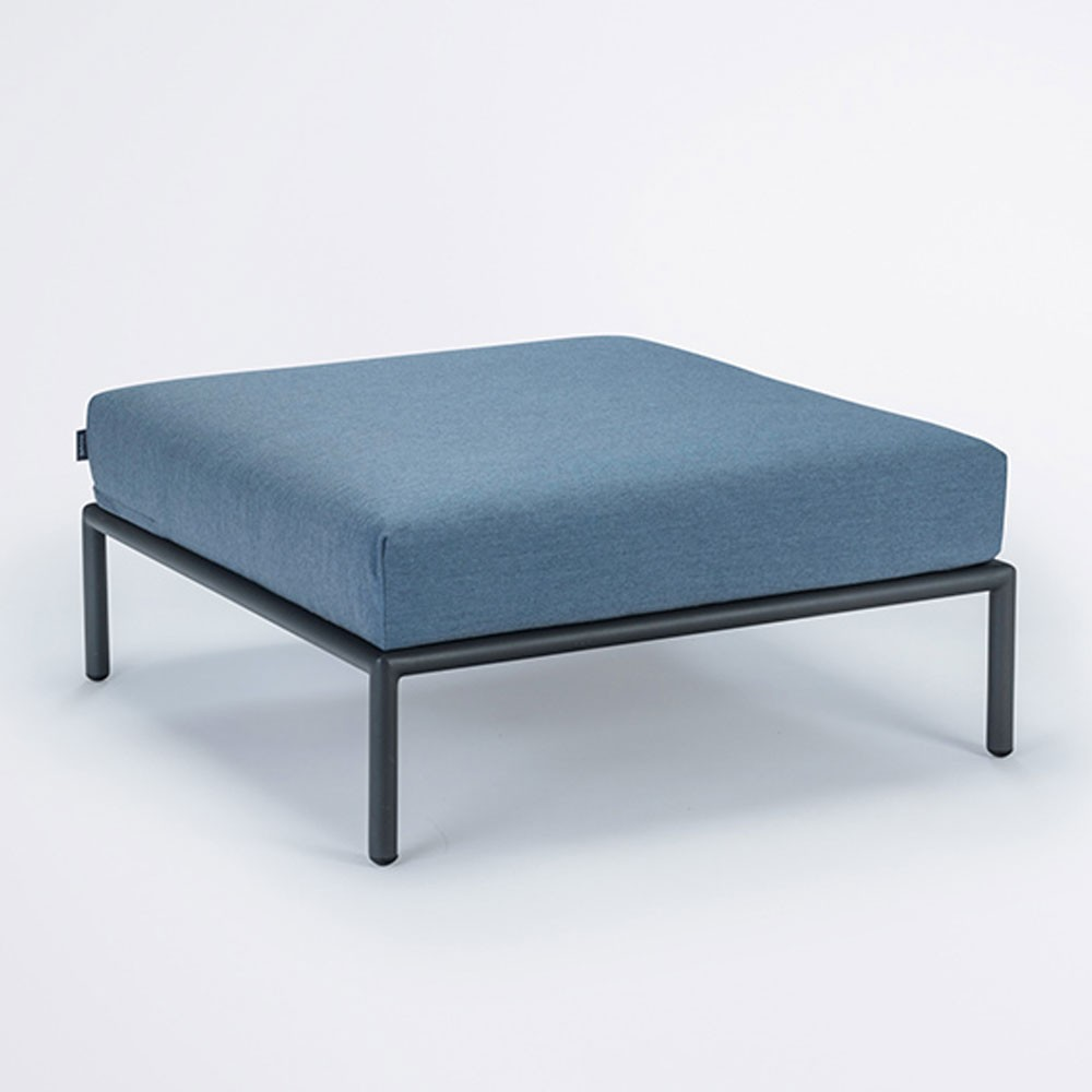 Level lounge ottoman carbon sky