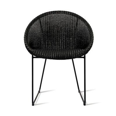 Joe chair sled base black Vincent Sheppard