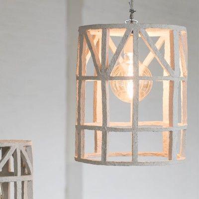 Hanging lamp paper mache beige S Serax