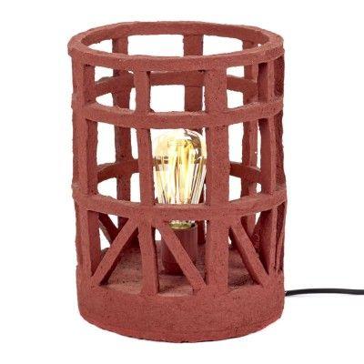 Lampe à poser en papier maché rouge S Serax