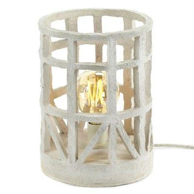 Lampe à poser en papier maché beige S Serax