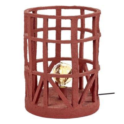 Standing lamp paper mache red L Serax