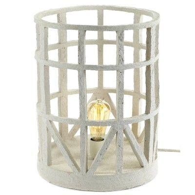 Standing lamp paper mache beige L Serax