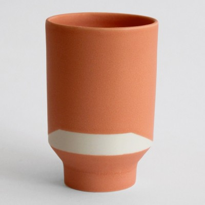 Verre Caïro orange (lot de 2)