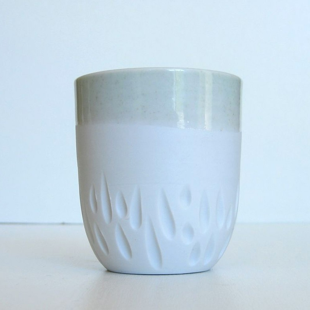Porcelain and celadon cup