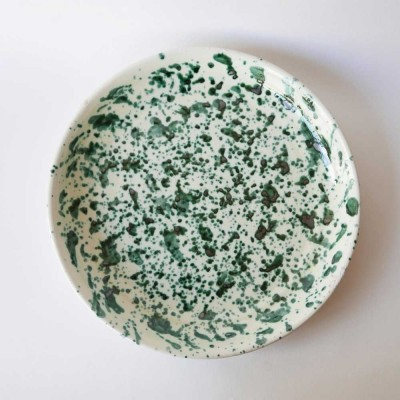 Large plate Green Datcha
