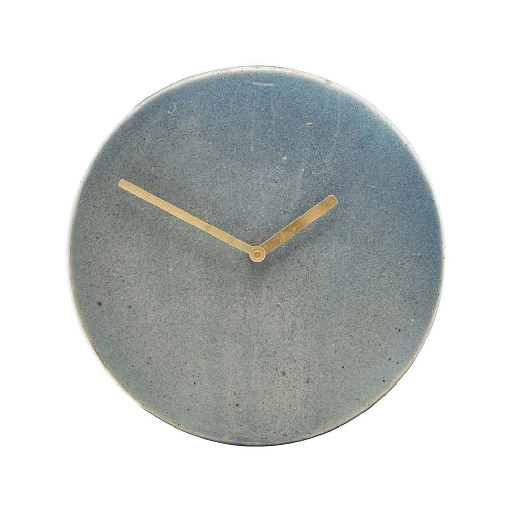 Metro wall clock grey & blue