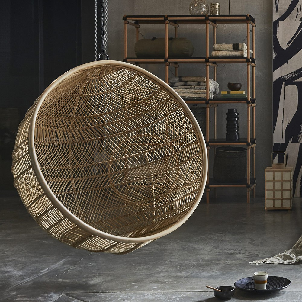 Rattan hanging bowl chair bohemian