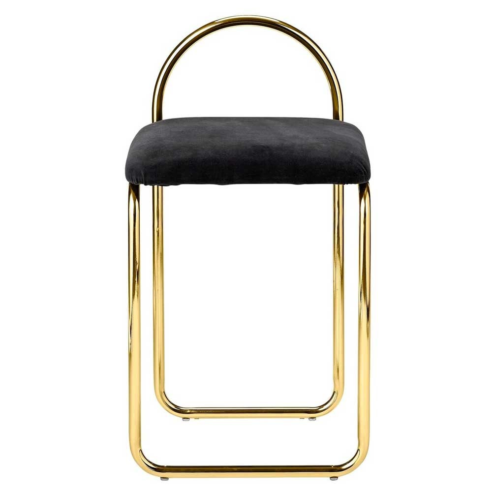 Angui anthracite & gold chair