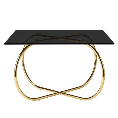 Table basse Angui noir & or