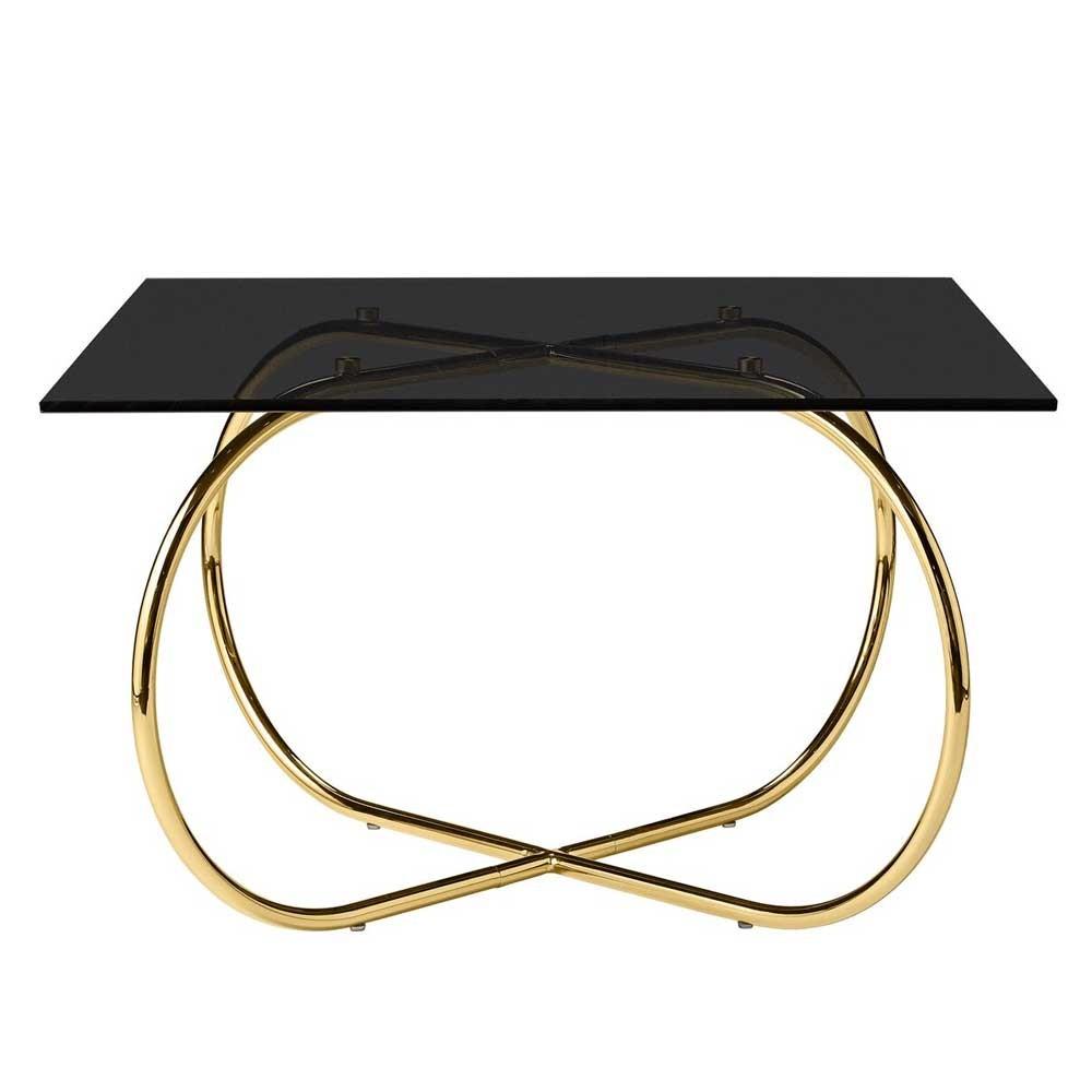 Angui black & gold coffee table