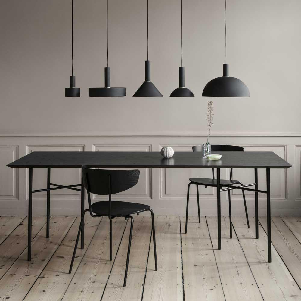 Mingle table black veneer