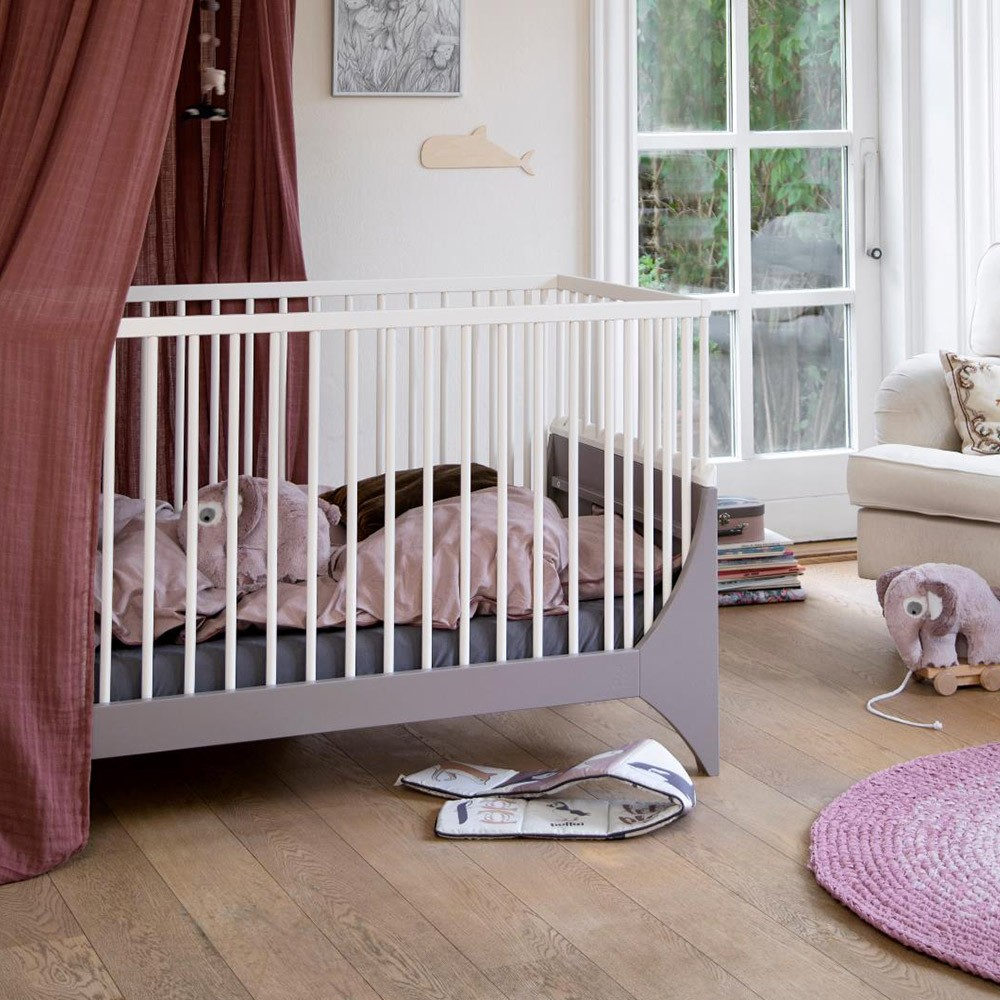Yomi baby bed earth brown/white