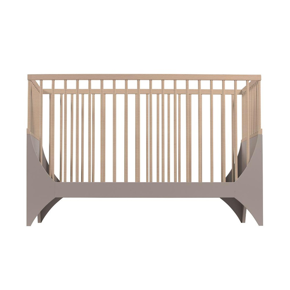 Yomi baby bed earth brown/beech