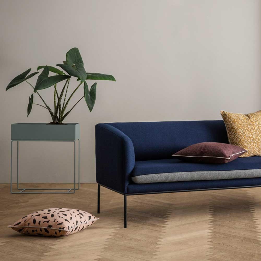 canap turn laine gris clair gris fonc ferm living. Black Bedroom Furniture Sets. Home Design Ideas