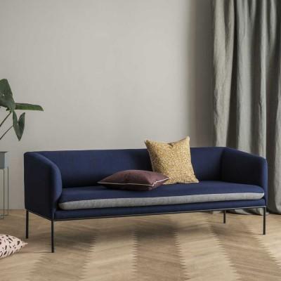 Turn wool sofa blue & light grey Ferm Living