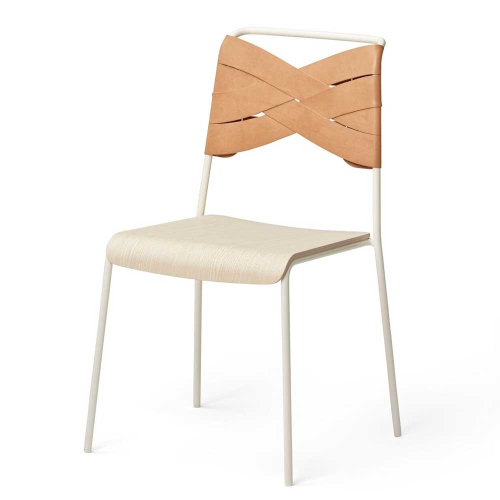 Torso chair ash & natural leather