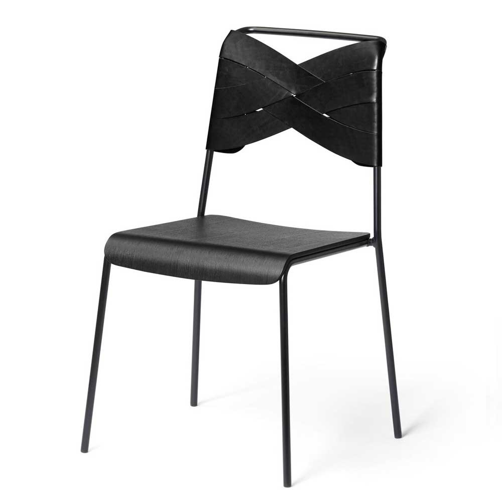 Torso chair black ash & black