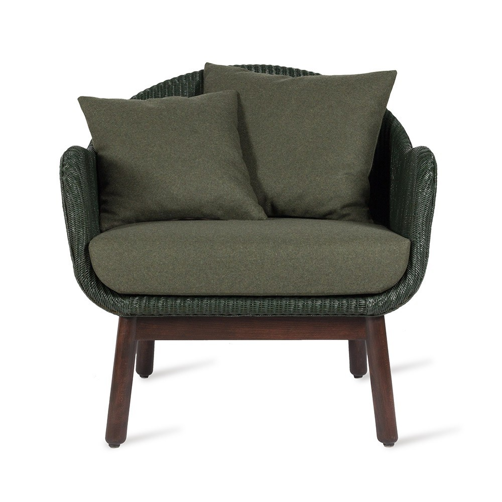 Fauteuil lounge Alex dark wood Vincent Sheppard