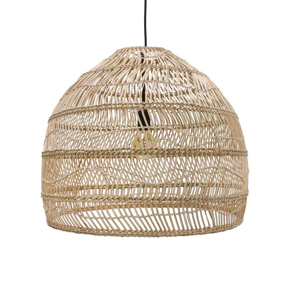 Wicker hanging lamp ball natural M