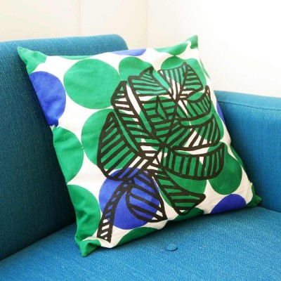 Palm leave cushion green Datcha