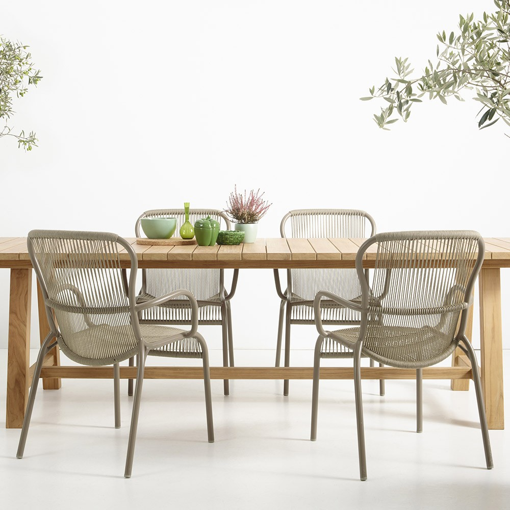 Loop dining chair taupe