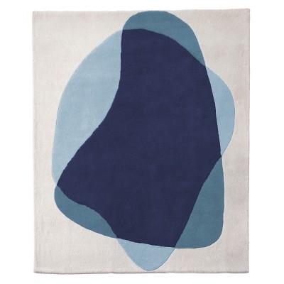 Tapis Serge bleu/gris