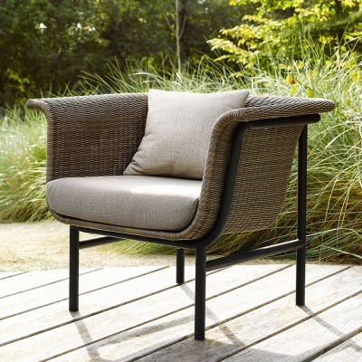 Wicked lounge armchair taupe/charcoal
