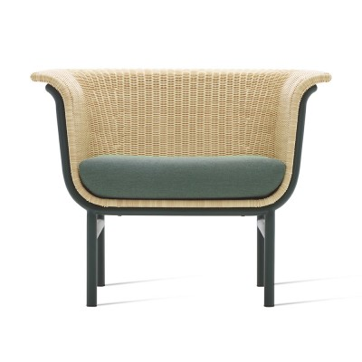 Wicked lounge armchair natural/green